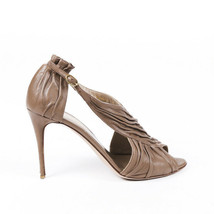 Valentino Textured Leather Peep Toe Pumps SZ 37.5 - $160.00