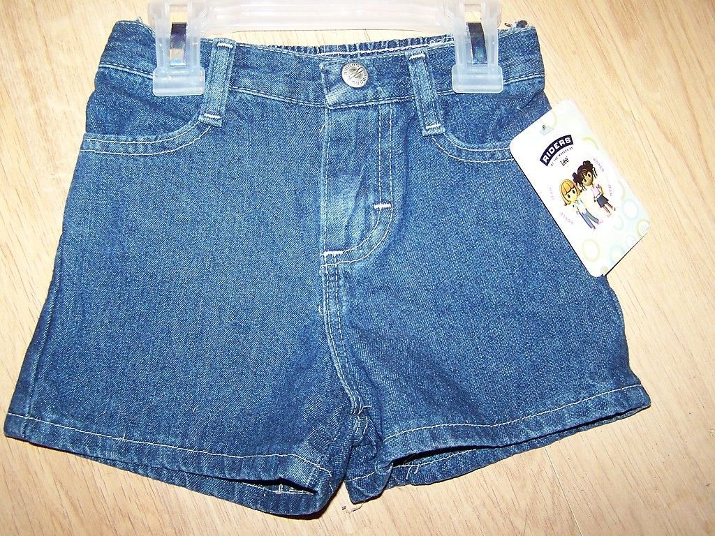 Primary image for Baby Girl's Size 18 Months Lee Riders Denim Blue Jean Shorts Summer New