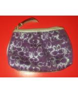 Coach plum optic lurex metallic signature mini ... - $18.00