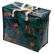 Fun Practical Laundry & Toy Storage Bag Zip Up Organiser Big Cats Spots ... - $9.03