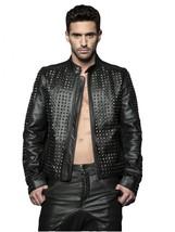 Men Ghost Rider Leather Jacket Coat For Men - $200.00