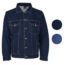 NYT Men's Classic Button Up Cotton Sherpa Trucker Denim Jean Jacket image 1