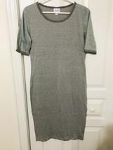 LuLaRoe Medium Julia Dress Solid Gray With Dark Gray Trim NWOT L13 - $29.99