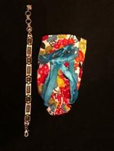 "Brighton Silver Plate Bracelet Preowned Bracelet 8"" w Brighton Bag - $22.26"