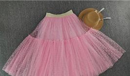 DARK GREEN Tutu Skirt Women Midi Tutu Skirt Dark Green Dot Party Skirt Plus Size image 10