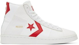 NIB*Converse  Pro Leather Parquet  Mid*Mens*White Red* Size 8-13*Sneaker - $165.00