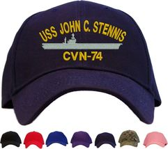 USS John C. Stennis CVN-74 Embroidered Baseball Cap Available in 7 Color... - $25.95