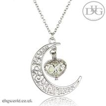 YAKAMOZ Enchanting Moon & Heart Theme Ladies Necklace - Glow in the Dark image 2