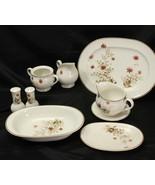 Noritake Versatone Outlook Serving Pieces Lot of 10 Platter Bowl S&P Sug... - $87.22
