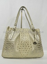 NWT Brahmin Adina Leather Tote/Shoulder Bag in Silver Birch Melbourne image 2