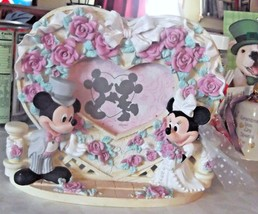 Disney 3D Mickey Minnie Mouse Wedding Heart Picture Photo Frame  - $18.49