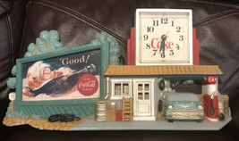 Vintage 1990 Burwood Coke Coca Cola Garage Service Gas Station Wall Clock - $46.74