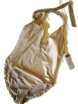 JANTZEN 1 Piece Gold Tummy Control SWIMSUIT Bathing Suit women's Size 6 NEW - $46.24