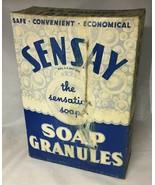 VINTAGE UNOPENED SENSAY LAUNDRY SOAP DETERGENT BOX ANTIQUE - $21.56