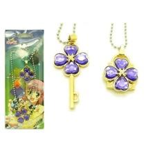 Shugo Chara Lock and key Modelling Lovers Pendant Necklace 2pcs purple - $9.13