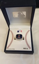 MLB ANAHEIM ANGELS STAINLESS STEEL RING, SIZE 10 - $10.39