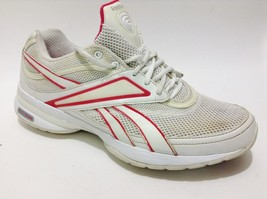 Womans 10 REEBOK Easy Tone White Pink Walking Toning Sneakers (c) - $16.14