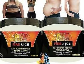 2 Jar Hot Cream Fat Burner Crema Reductora 4Oz Lipo Gel Reductor Quema Grasa Ll - $40.05