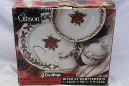 Gibson Xmas Greeting Holly Completer Set  - $39.19
