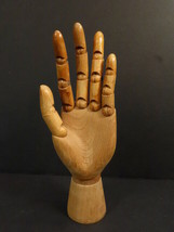 "Antique All Articulated Wooden Mannequin Hand 9""1/2  (2) - $100.00"