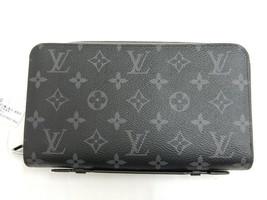 Louis Vuitton Auth Zippy XL M61698 Monogram Eclipse black handbag Men's - $1,492.16