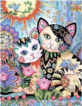 """Flower Cats 16X20"""" Paint By Number Kit DIY Acrylic Painting on Canvas SPA1816 - $8.99"""