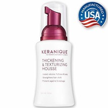 Keranique Thickening & Texturizing Mousse, 3.4 Fl Oz – Instant Volume, Thickness