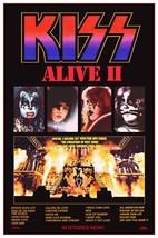 "KISS Band ALIVE II Album ""24 x 37"" Inch Custom Poster - Rock Concert Mem... - $50.00"