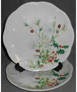 Set (2) Lenox WINTER MEADOW PATTERN - PAPERWHITE Luncheon Plates CHRISTMAS - $44.54
