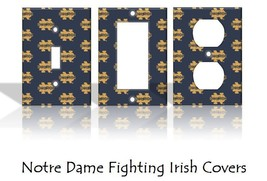 Notre Dame Fighting Irish Light Switch Covers Football NCAA Home Decor O... - $6.89+