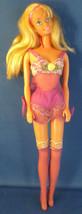 Mattel Vintage 1976 Blonde Barbie Doll in Lavender Lingerie & Knee High Stocking - $24.75