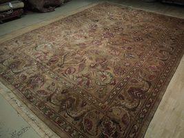 Densely Knotted Genuine Handmade 9 x 13 Brown Jaipur Wool Rug image 5