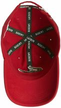 Lacoste Men's Classic Gabardine  Cotton Big Croc Logo Adjustable Red Hat Cap image 4