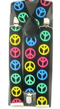 """Unisex Adult Multi Color Peace Signs 1 1/2"""" Adjustable Y-Style Back susp... - $18.80"""