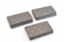 LOUIS VUITTON Monogram Wallet 3 Set LV Auth ar1543 Sticky - $173.34