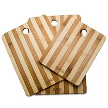 Chefs Limited 3 Piece Bamboo Cutting Board Set with Handle - $38.78