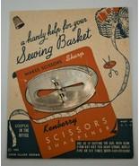 Kenberry Scissors Sharpener on Original Card Copyright 1943 John Clark B... - $9.90