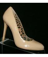 Jessica Simpson beige patent leather round toe slip on pump heels 8M 7301 - $33.30