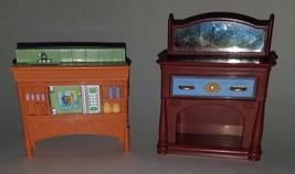 Fisher Price Loving Family Furniture Kitchen Sink Microwave Bureau Dress... - $14.46