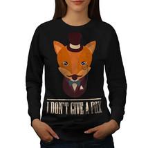 I don't give a fox Funny Jumper Animal Fun Women Sweatshirt - $18.99