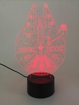 Night Light 3D Acrylic LED 7 Color Table Desk Lamp Star Wars Falcon - $14.99