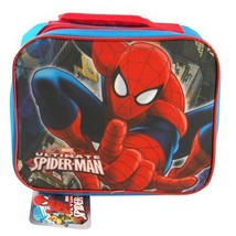 Ultimate Spider-Man Kids Boys Insulated Blue Lunch Bag New - $4.99