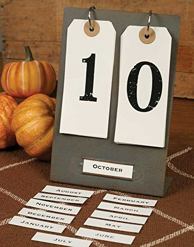 Country Decor Decorative Calendar Day & Month
