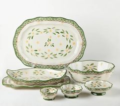 Temp-tations Old World 7-Pc Specialty Nested Serving Set H219270 Green NEW - $124.99