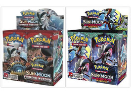 Crimson Invasion + Guardians Rising Booster Boxes Pokemon TCG Sealed Sun... - $209.99