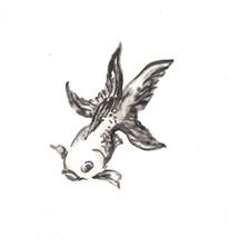 "Akimova: FISH, ink, black&white, animal, 6""x 6"", sea - $4.00"