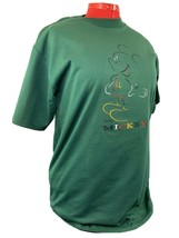 VINTAGE NWT 90s EMBROIDERED DISNEY MICKEY UNLIMITED MENS GREEN SHIRT SIZE L - $39.98