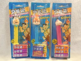 Flintstones 1992 Pez Candy Dispenser Set of 3 Fred, Pebbles & Dino MOC - $9.95