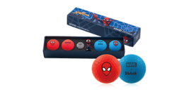 Marvel X Volvik Spider-Man Vivid Long Golf Balls 4pcs + 3D Ball Marker A... - $43.11