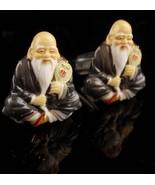 Toshikane Cufflinks - Vintage Asian set - Japan - signed  porcelain hand... - $225.00